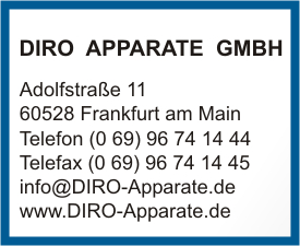 DIRO APPARATE GMBH